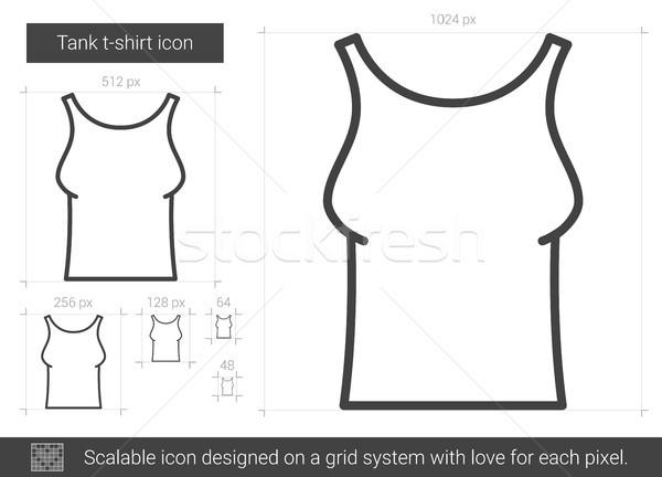 タンク Tシャツ 行 アイコン ベクトル 孤立した ストックフォト © RAStudio