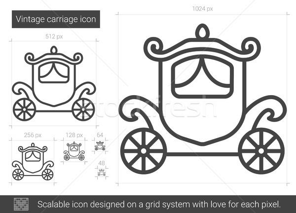 Vintage carriage line icon. Stock photo © RAStudio