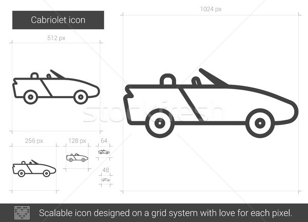 Cabriolet line icon. Stock photo © RAStudio
