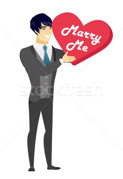 Adam evlilik öneri genç Asya Stok fotoğraf © RAStudio