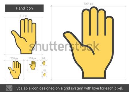 Moto handschoenen lijn icon vector geïsoleerd Stockfoto © RAStudio