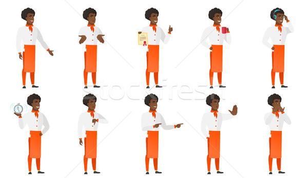 Vector set of chief-cooker characters. Stock photo © RAStudio