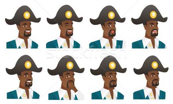 Vector set of pirate characters. Stock photo © RAStudio