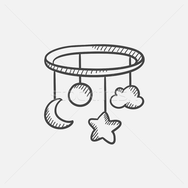 Carrousel schets icon web mobiele Stockfoto © RAStudio