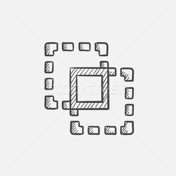 Crop sketch icon. Stock photo © RAStudio