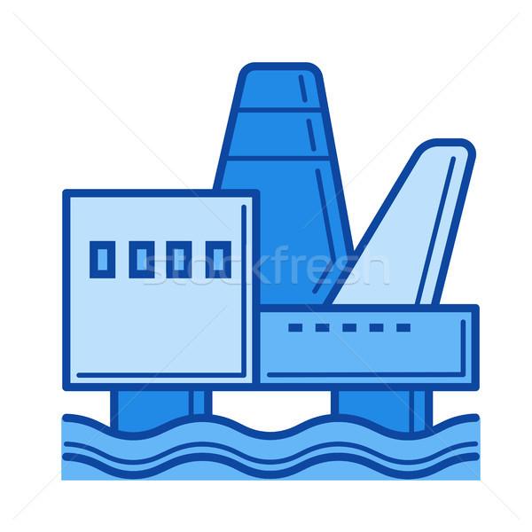 Costa afuera línea icono vector aislado Foto stock © RAStudio
