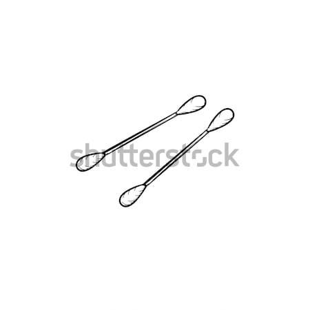 Pamuk kroki ikon vektör Stok fotoğraf © RAStudio