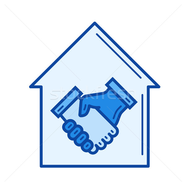 Real estate agreement line icon. Stock photo © RAStudio