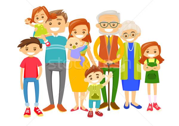 счастливым кавказский улыбаясь семьи белый старые Сток-фото © RAStudio