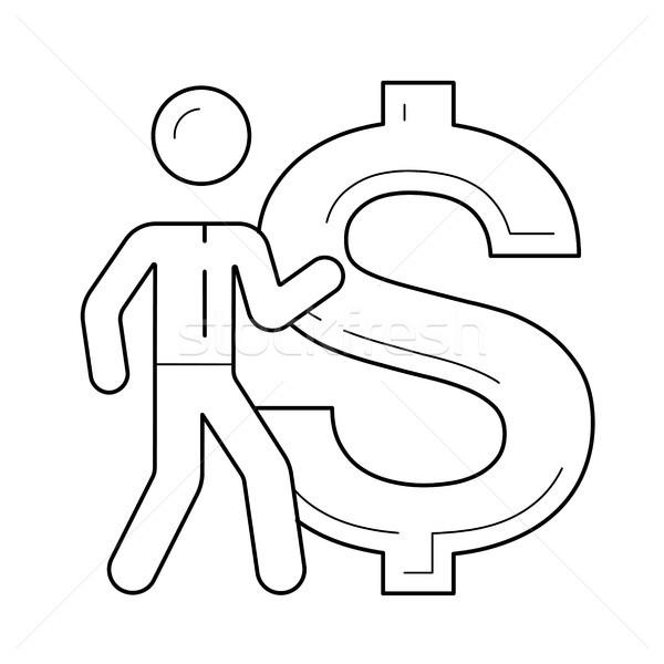 Investitionen Broker Vektor line Symbol isoliert Stock foto © RAStudio