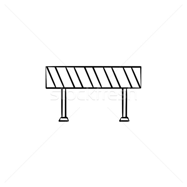 Road barrier hand drawn sketch icon. Stock photo © RAStudio