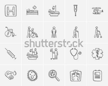Medicine hand drawn outline doodle icon set. Stock photo © RAStudio