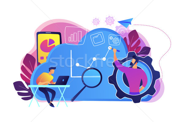 Cloud management concept vector illustration. Stock photo © RAStudio