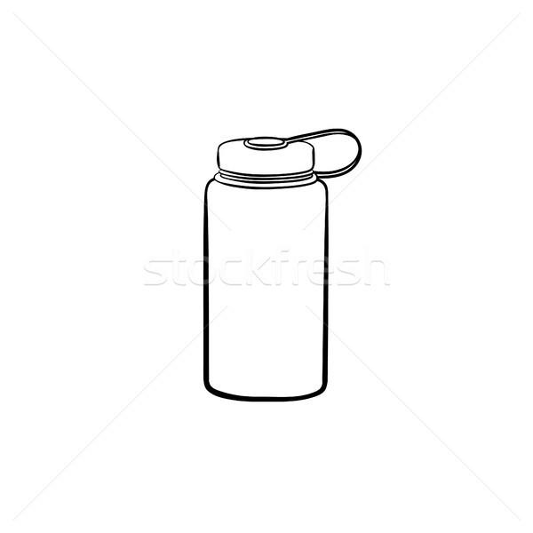 Sport veldfles schets doodle icon Stockfoto © RAStudio