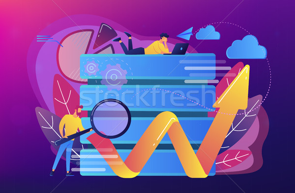 Big data tools concept vector illustration. Stock photo © RAStudio