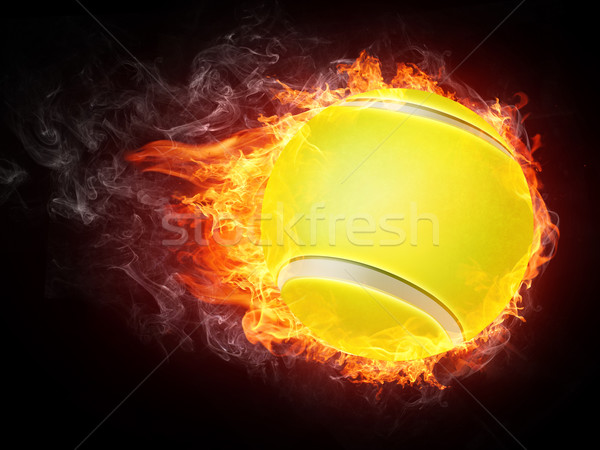 Balle de tennis feu graphiques ordinateur design fond Photo stock © RAStudio