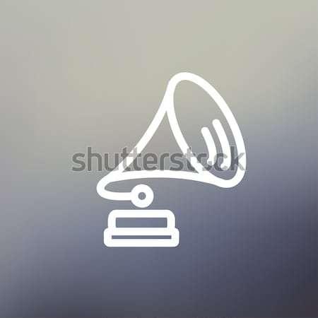 Gramófono delgado línea icono web móviles Foto stock © RAStudio