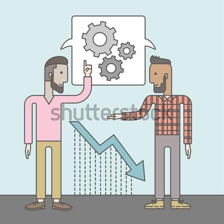 Two men talking about industrial business Stock photo © RAStudio