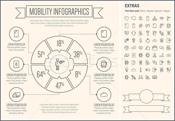 Mobilità line design infografica modello elementi Foto d'archivio © RAStudio