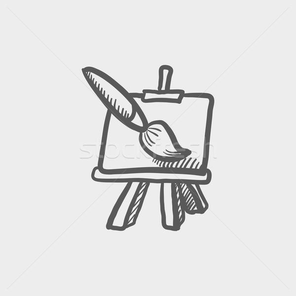 Grafik fırça boya kroki ikon web hareketli Stok fotoğraf © RAStudio