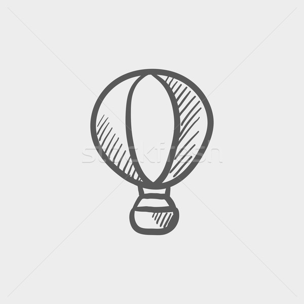 Stock photo: Hot air balloon sketch icon