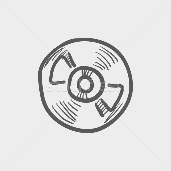 Tekercs szalag fedélzet játékos furulya rajz Stock fotó © RAStudio