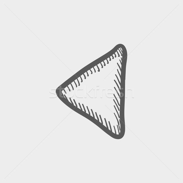 Playback button sketch icon Stock photo © RAStudio