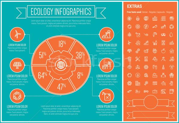 ökológia vonal terv infografika sablon elemek Stock fotó © RAStudio