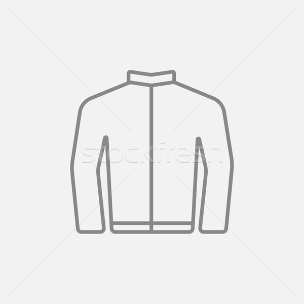 Biker jacket line icon. Stock photo © RAStudio