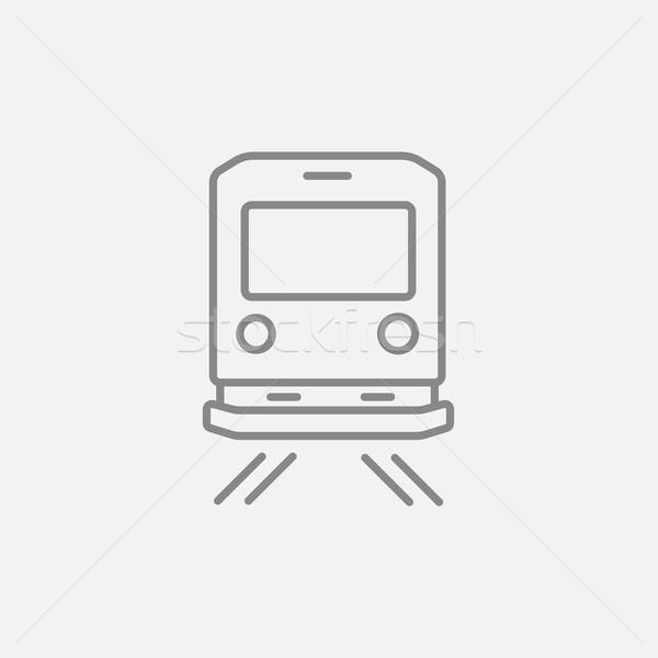Foto stock: Ver · de · volta · trem · linha · ícone · teia · móvel