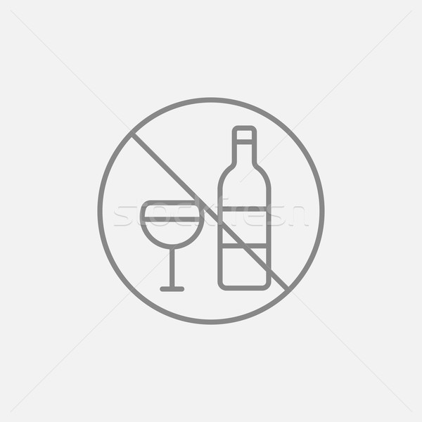 No alcohol sign line icon  vector illustration © Andrei