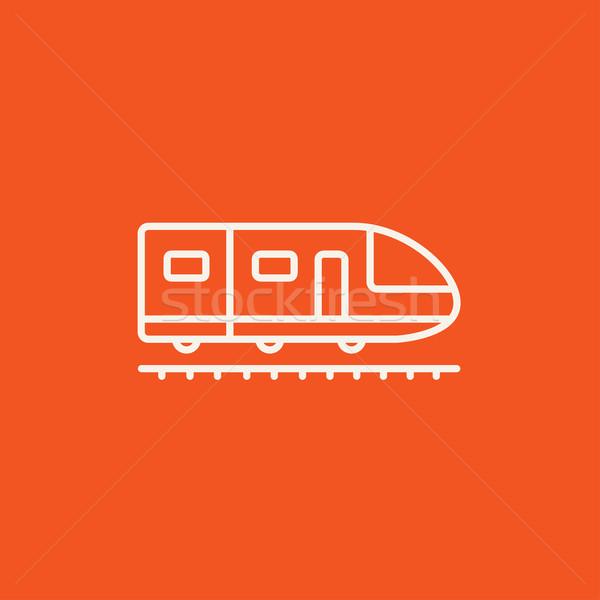 Modernes à grande vitesse train ligne icône web Photo stock © RAStudio