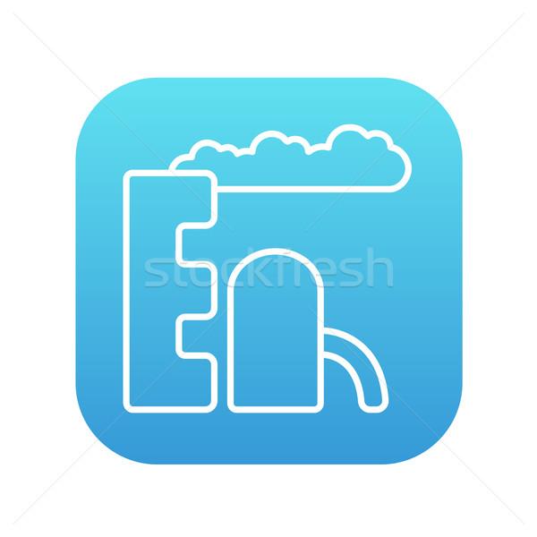 очистительный завод завода линия икона веб мобильных Сток-фото © RAStudio