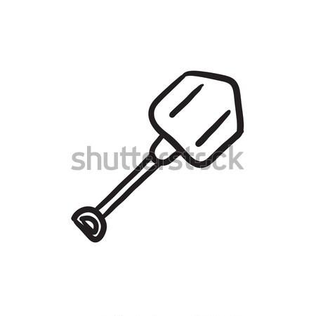 Shovel line icon. Stock photo © RAStudio
