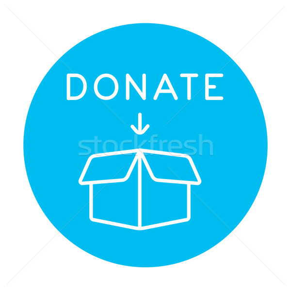 Donation box line icon. Stock photo © RAStudio