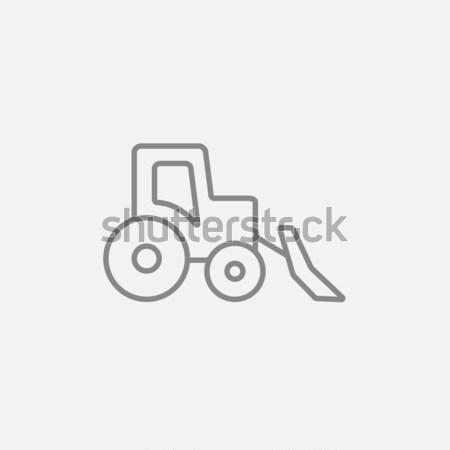 Escavadeira linha ícone teia móvel infográficos Foto stock © RAStudio