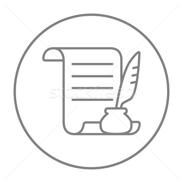 Сток-фото: бумаги · выделите · Перу · пер · линия · икона