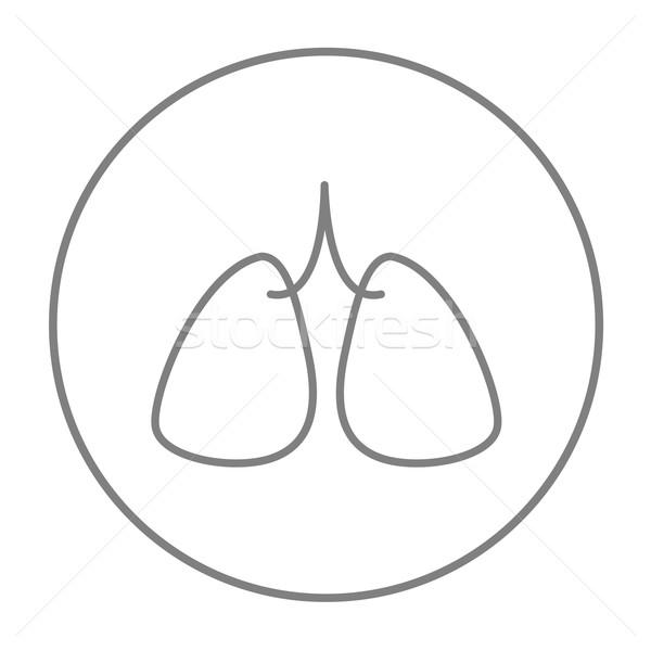 Lungs line icon. Stock photo © RAStudio