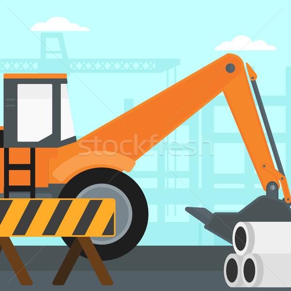 掘削機 建設現場 ベクトル デザイン 実例 広場 ストックフォト © RAStudio