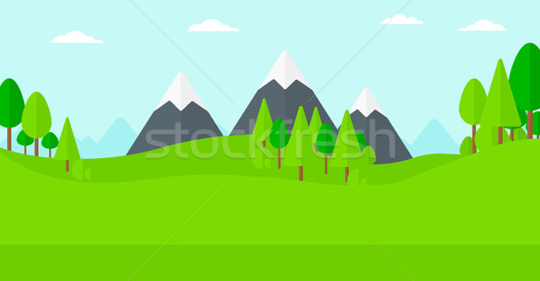 Background of green forest. Stock photo © RAStudio
