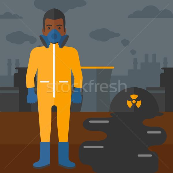 Stok fotoğraf: Adam · kimyasal · takım · elbise · toksik · atmosfer