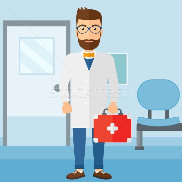 Medico pronto soccorso finestra piedi ospedale vettore Foto d'archivio © RAStudio