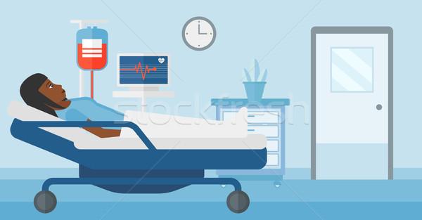 пациент женщину больницу частота сердечных сокращений контроля Сток-фото © RAStudio