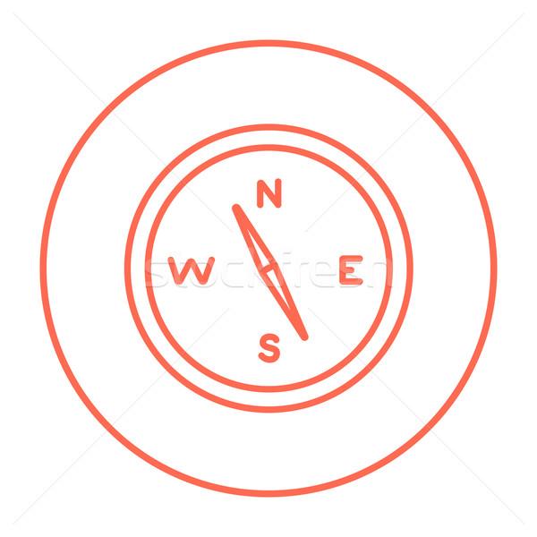 Brújula línea icono web móviles infografía Foto stock © RAStudio