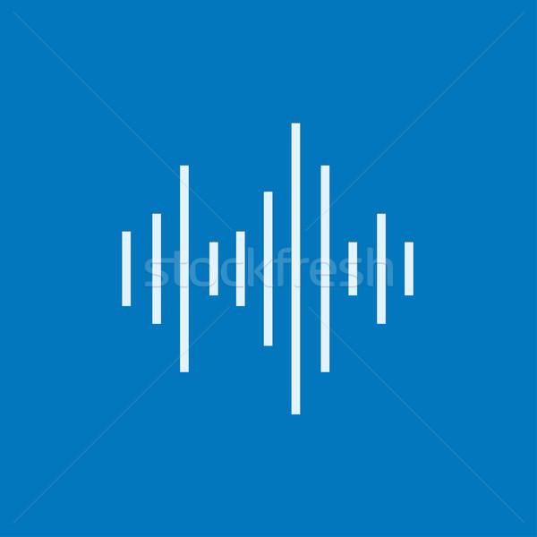 Ecualizador línea icono esquinas web móviles Foto stock © RAStudio