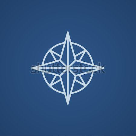 Compass wind rose line icon. Stock photo © RAStudio