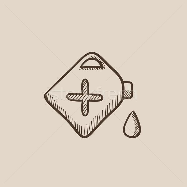 Gas container sketch icon. Stock photo © RAStudio