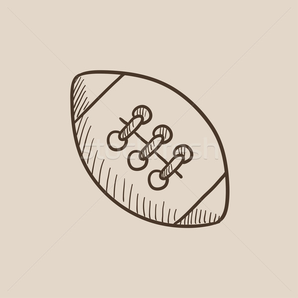 Rugby football ball sketch icon. Stock photo © RAStudio