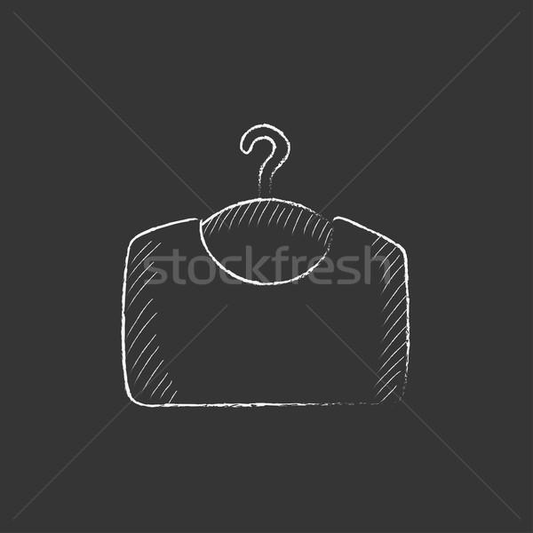 Sweater on hanger. Drawn in chalk icon. Stock photo © RAStudio