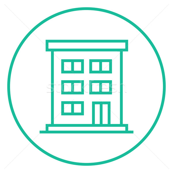 Residential buildings line icon. Stock photo © RAStudio